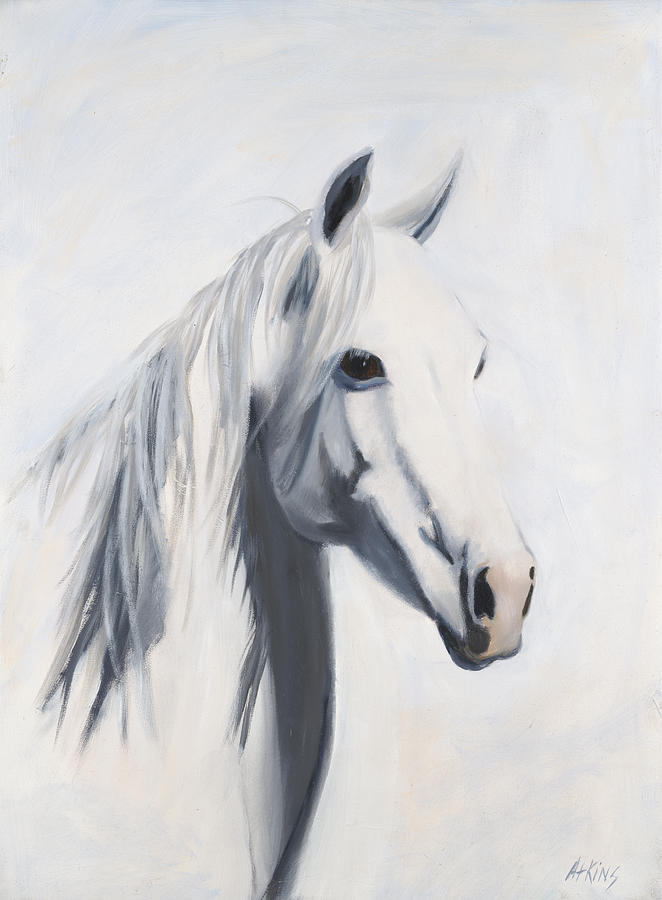 Horse Paintings Painting - Mustang Mama by Jack Atkins