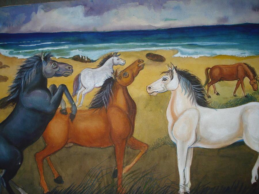 Mustang Mates Painting