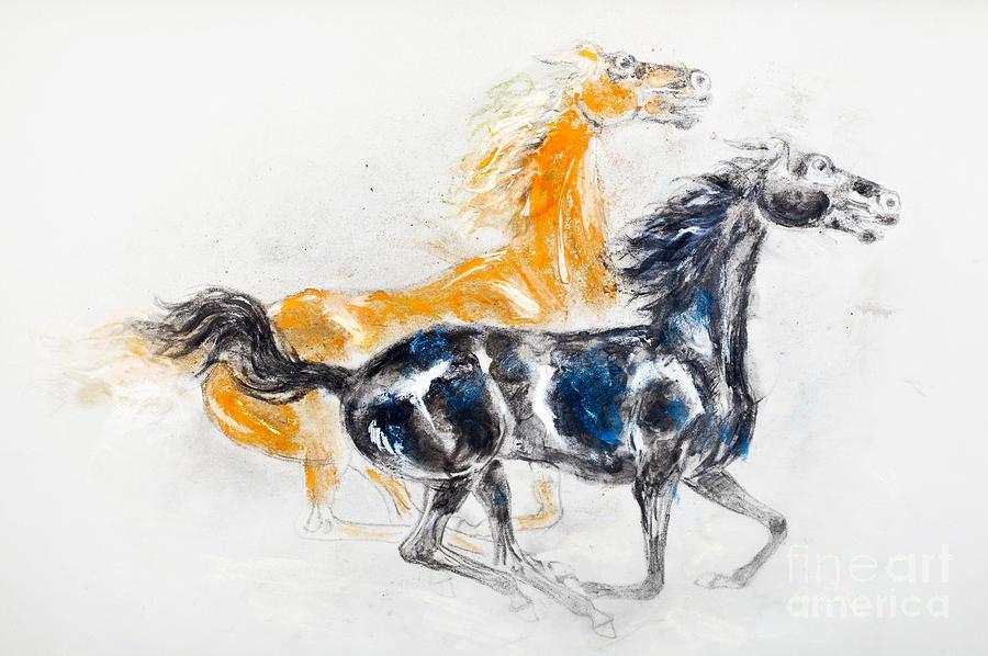 Mustangs Pastel