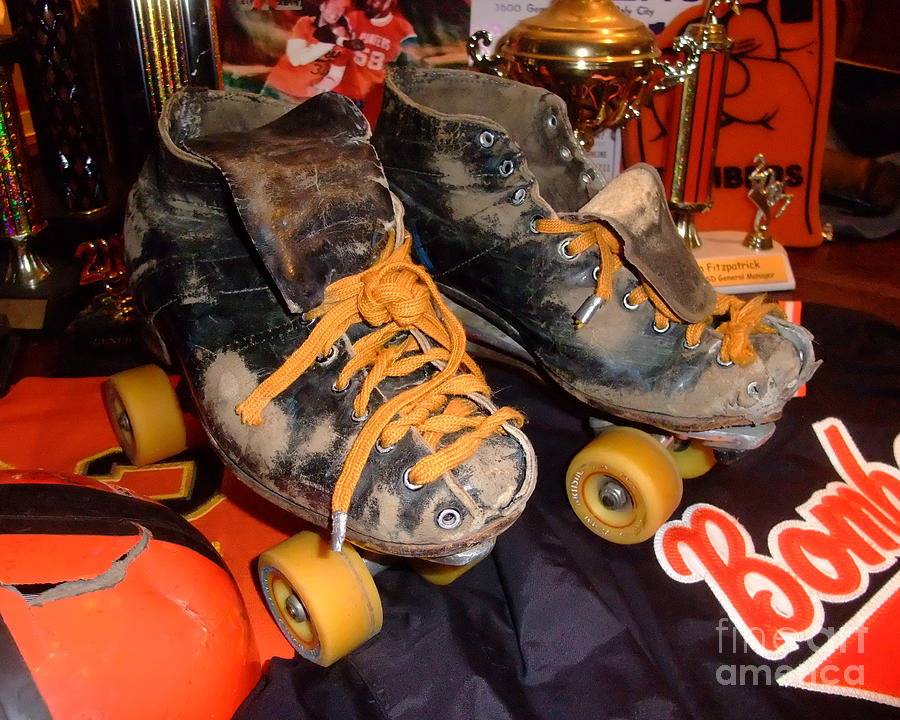 My Battle Scarred Roller Derby Skates  Photograph