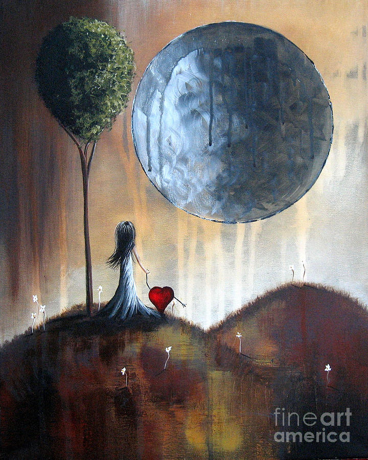 Surreal Painting - My Bff By Shawna Erback by Shawna Erback