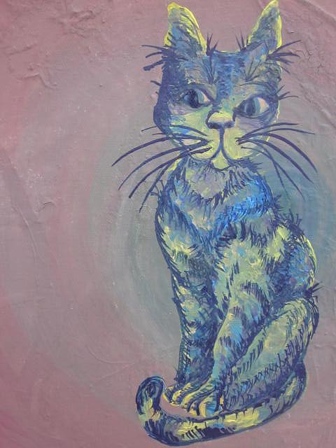 My Blue Cat Painting