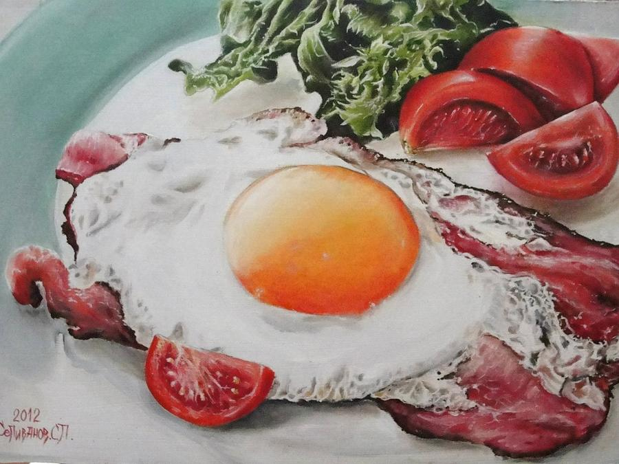 My Breakfast  Painting
