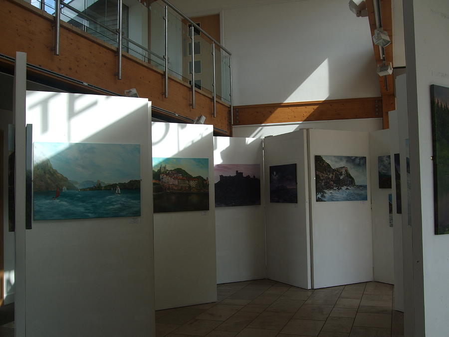 My Exhibition Of 30 Oil Paintings At Chasewater Painting  - My Exhibition Of 30 Oil Paintings At Chasewater Fine Art Print