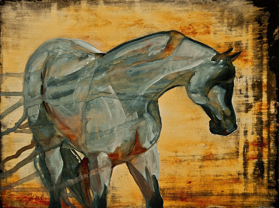 Horses Painting - My Final Notice  by Jani Freimann