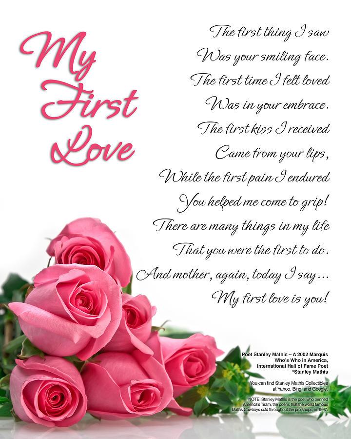 My First Love Poetry Art Print Digital Art