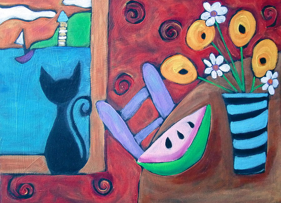My funky house painting by carla macdiarmid for Funky house artists