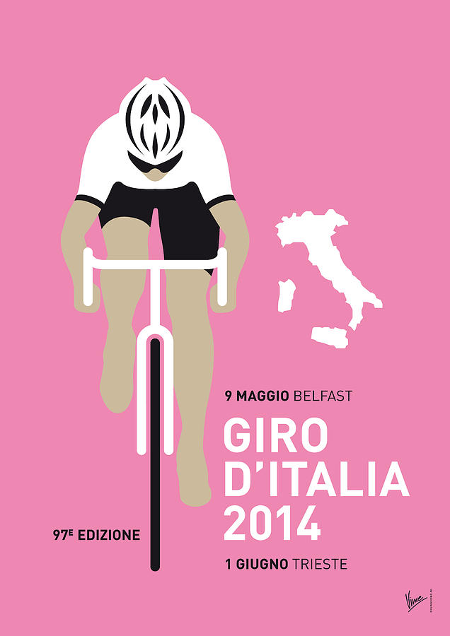 My Giro D Italia Minimal Poster 2014 Digital Art