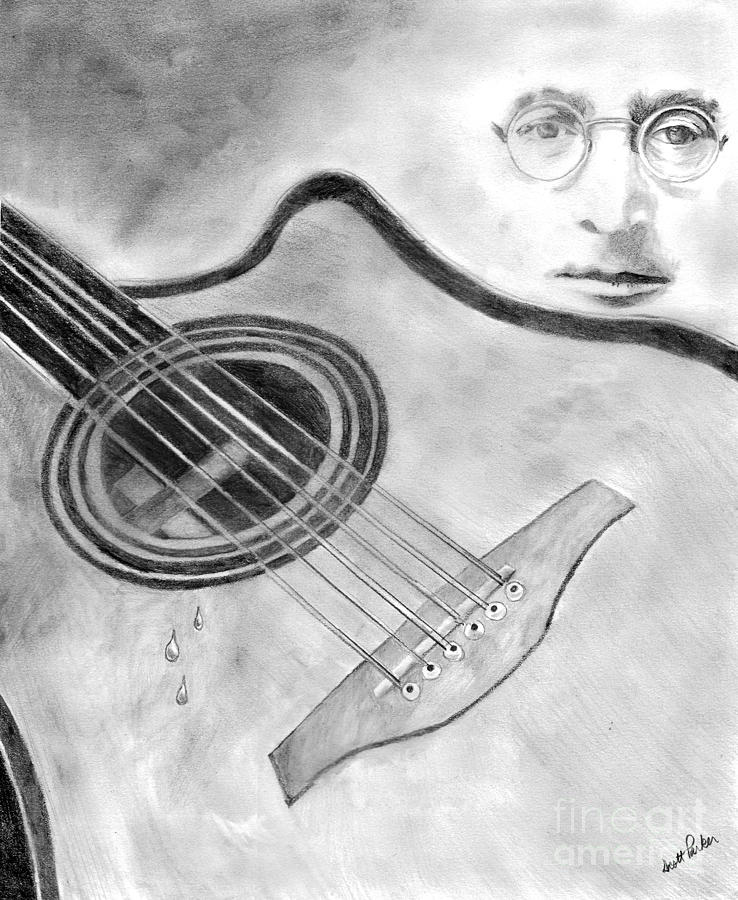 My Guitar Gently Weeps Drawing