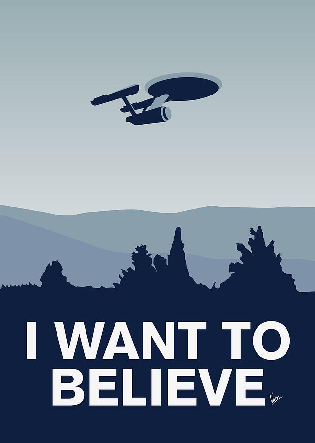Classic Digital Art - My I Want To Believe Minimal Poster-enterprice by Chungkong Art