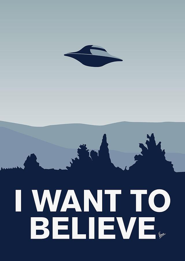 My I Want To Believe Minimal Poster-xfiles Digital Art