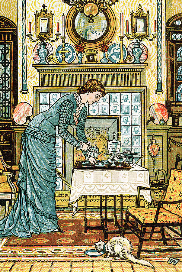 Interior Painting - My Ladys Chamber by Walter Crane