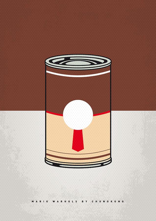 My Mario Warhols Minimal Can Poster-donkey Kong Digital Art