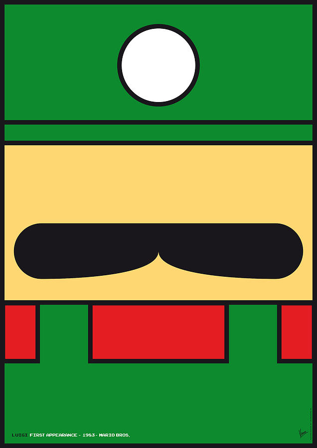 My Mariobros Fig 02 Minimal Poster Digital Art  - My Mariobros Fig 02 Minimal Poster Fine Art Print