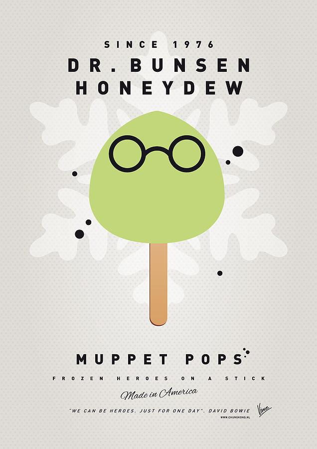 Muppets Digital Art - My Muppet Ice Pop - Dr Bunsen Honeydew by Chungkong Art
