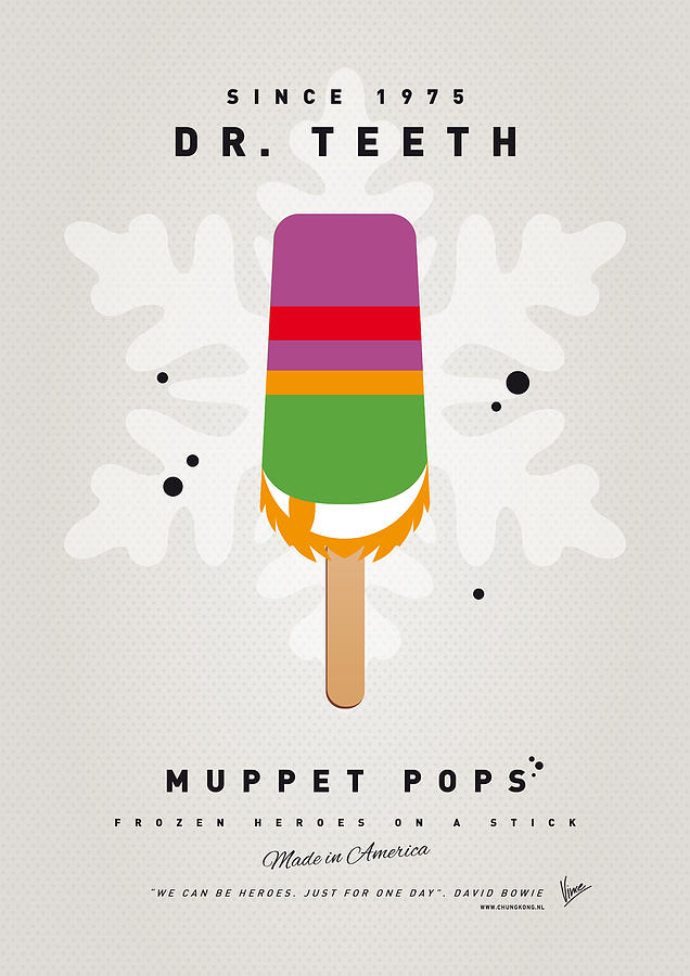 My Muppet Ice Pop - Dr Teeth Digital Art  - My Muppet Ice Pop - Dr Teeth Fine Art Print