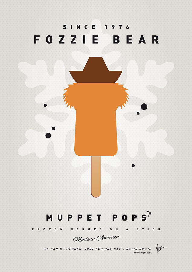 My Muppet Ice Pop - Fozzie Bear Digital Art  - My Muppet Ice Pop - Fozzie Bear Fine Art Print