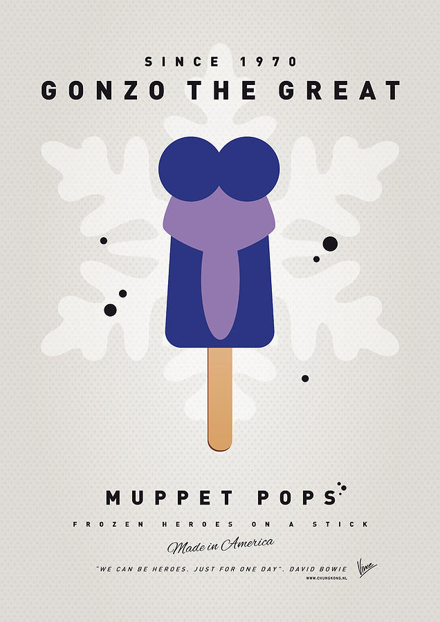 My Muppet Ice Pop - Gonzo Digital Art  - My Muppet Ice Pop - Gonzo Fine Art Print