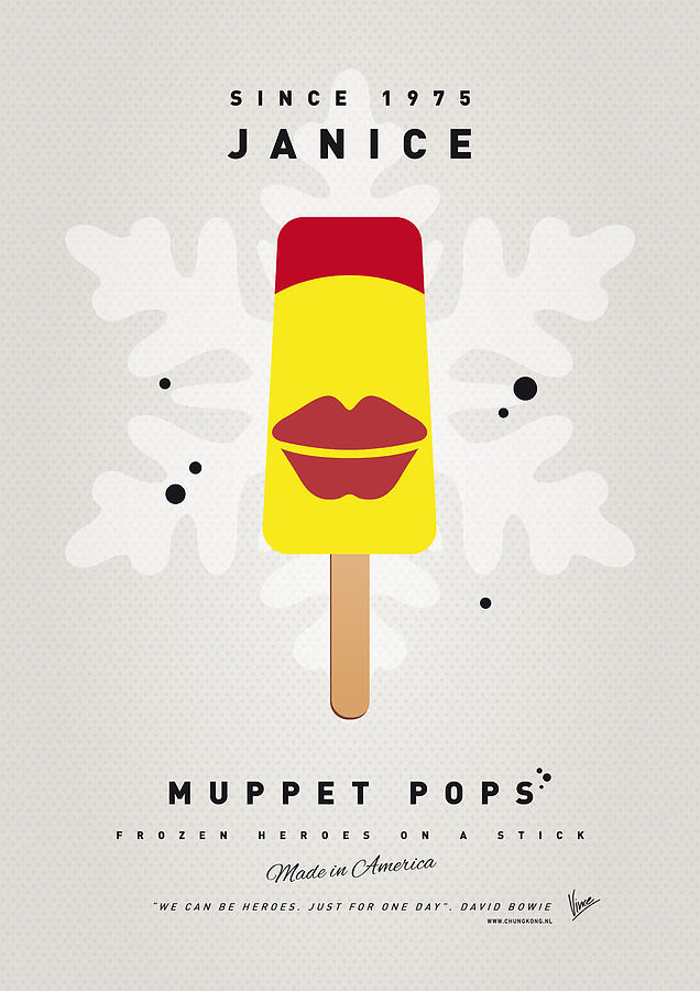 My Muppet Ice Pop - Janice Digital Art  - My Muppet Ice Pop - Janice Fine Art Print