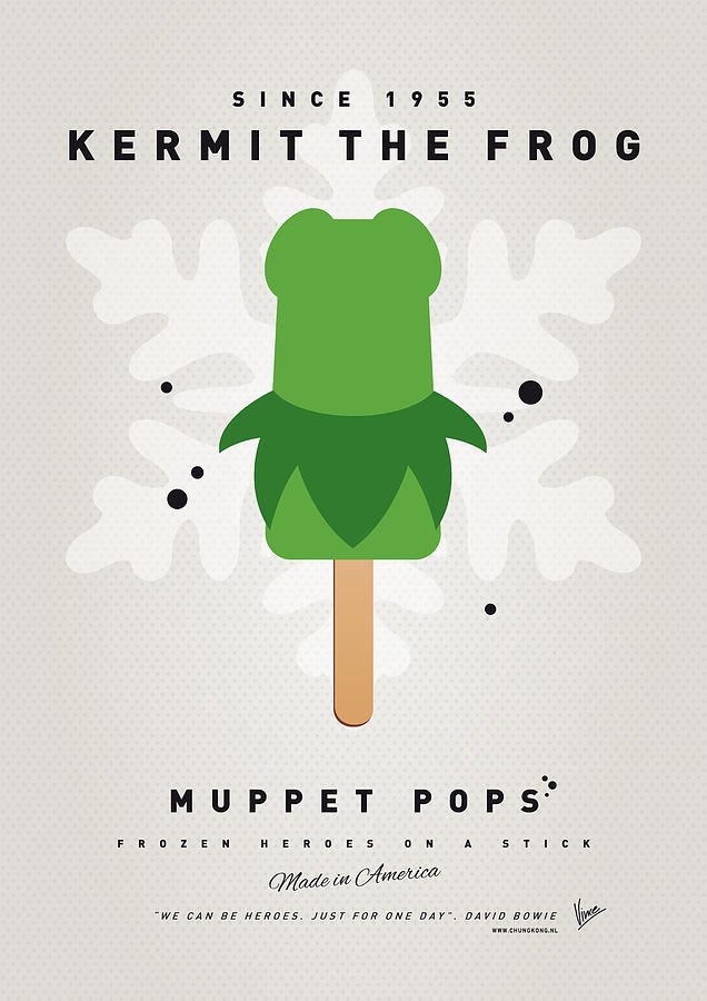 My Muppet Ice Pop - Kermit Digital Art  - My Muppet Ice Pop - Kermit Fine Art Print