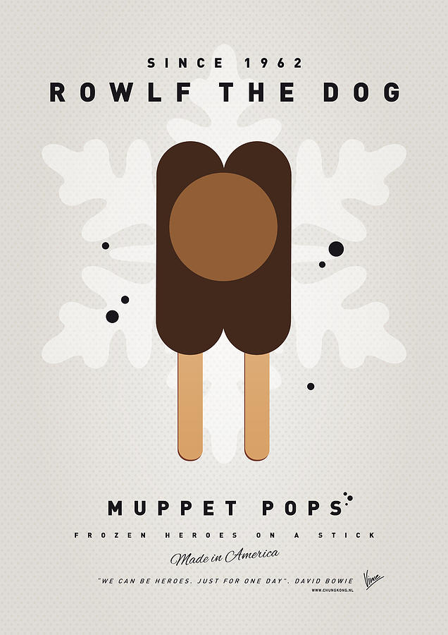 My Muppet Ice Pop - Rowlf Digital Art  - My Muppet Ice Pop - Rowlf Fine Art Print