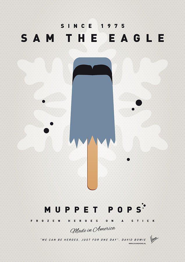 My Muppet Ice Pop - Sam The Eagle Digital Art  - My Muppet Ice Pop - Sam The Eagle Fine Art Print