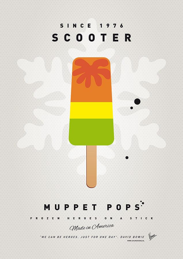 Muppets Digital Art - My Muppet Ice Pop - Scooter by Chungkong Art