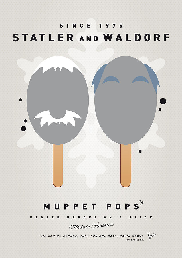 My Muppet Ice Pop - Statler And Waldorf Digital Art  - My Muppet Ice Pop - Statler And Waldorf Fine Art Print