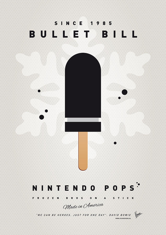 My Nintendo Ice Pop - Bullet Bill Digital Art  - My Nintendo Ice Pop - Bullet Bill Fine Art Print