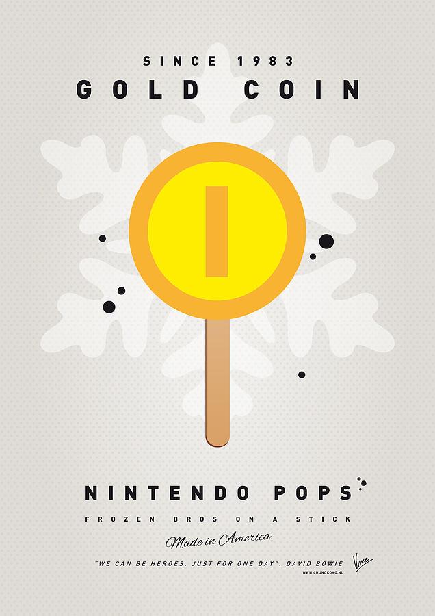 My Nintendo Ice Pop - Gold Coin Digital Art
