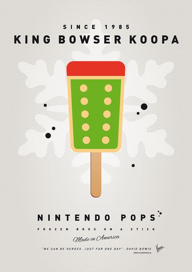 My Nintendo Ice Pop - King Bowser Digital Art