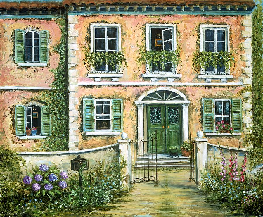 My pink italian villa painting by marilyn dunlap for My villa