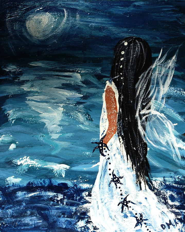 Angel Painting - My Prayers by Debbie May
