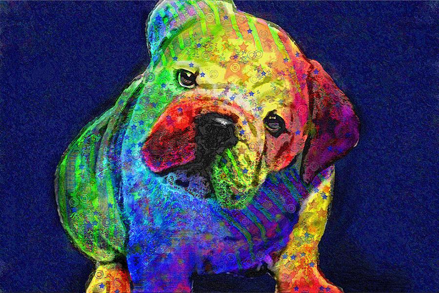 My Psychedelic Bulldog Digital Art