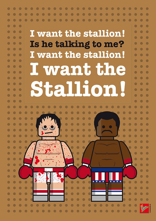 My Rocky Lego Dialogue Poster Digital Art