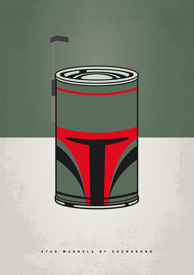 My Star Warhols Boba Fett Minimal Can Poster Digital Art