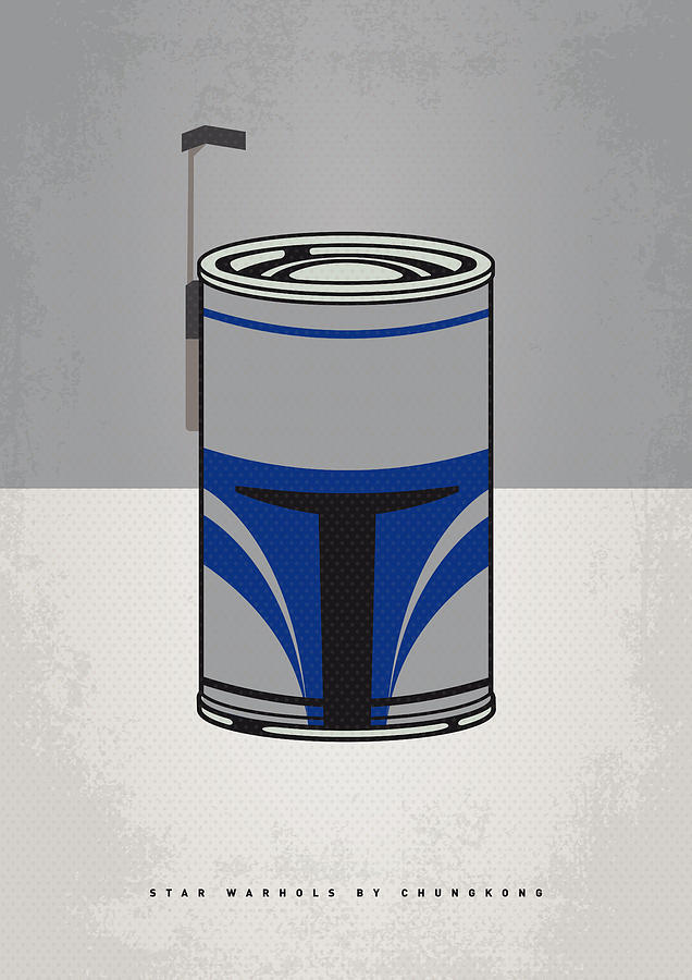 My Star Warhols Jango Fett Minimal Can Poster Digital Art