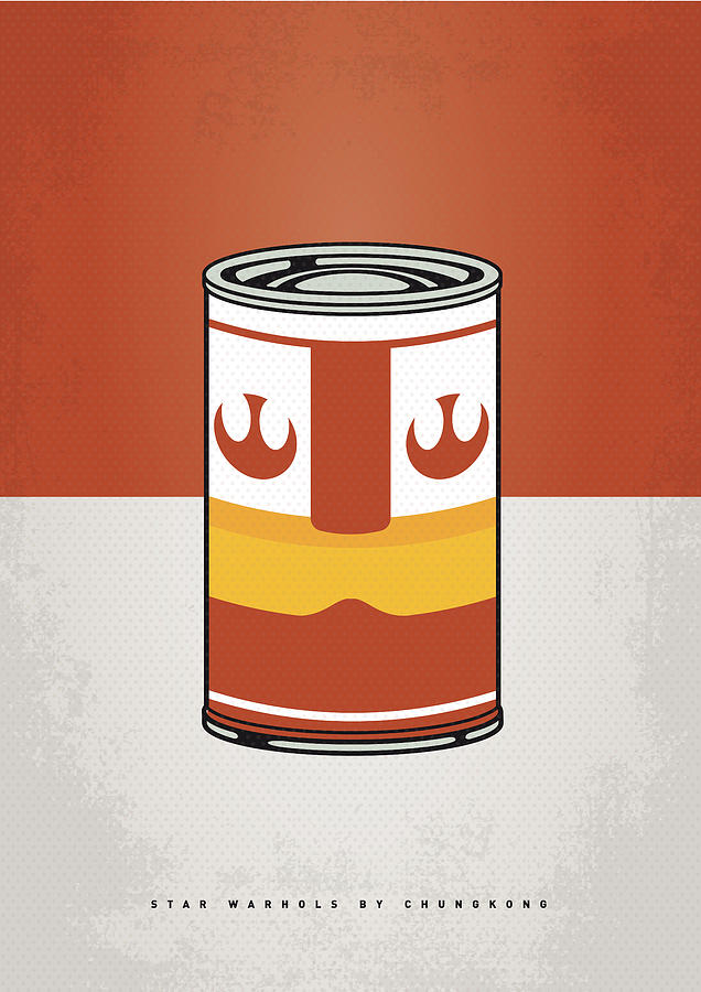 My Star Warhols Luke Skywalker Minimal Can Poster Digital Art