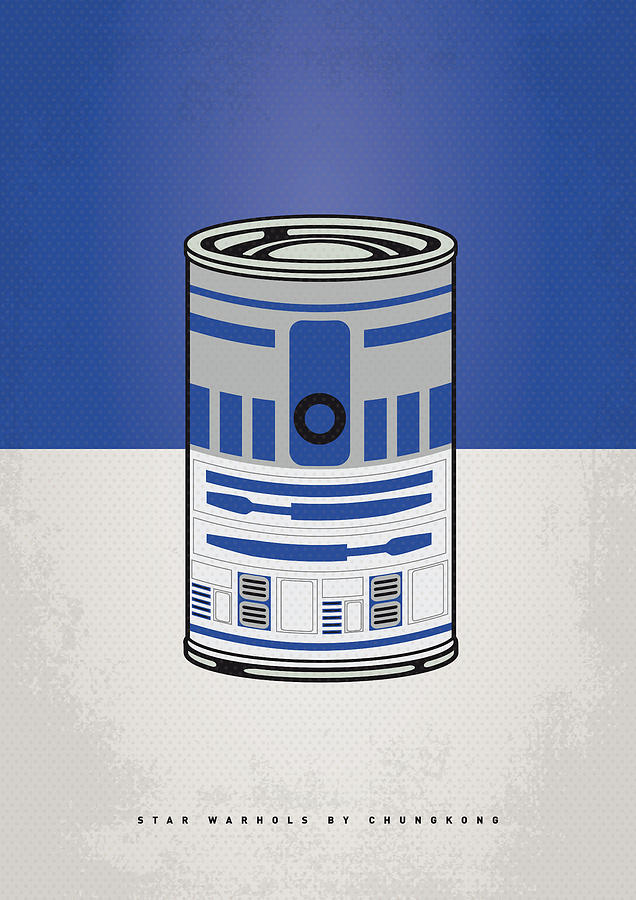 My Star Warhols R2d2 Minimal Can Poster Digital Art