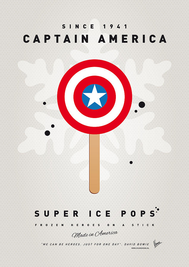 My Superhero Ice Pop - Captain America Digital Art