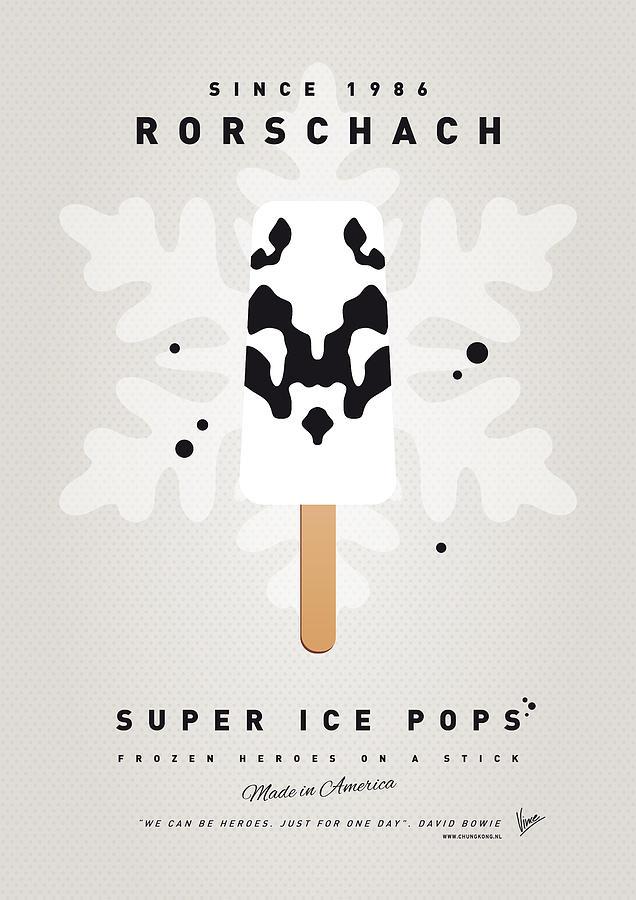 My Superhero Ice Pop - Rorschach Digital Art