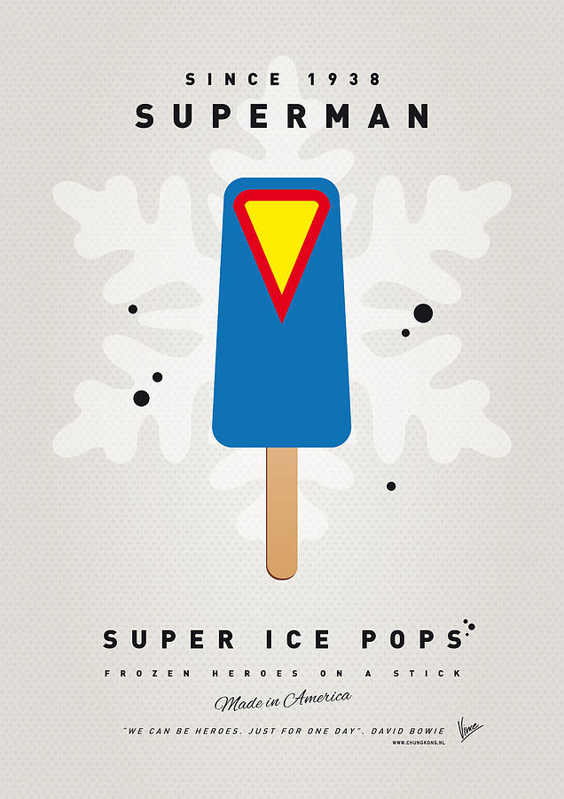 Superheroes Digital Art - My Superhero Ice Pop - Superman by Chungkong Art