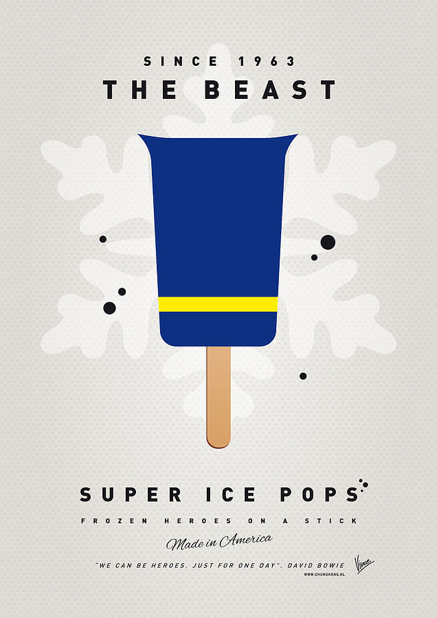 My Superhero Ice Pop - The Beast Digital Art  - My Superhero Ice Pop - The Beast Fine Art Print