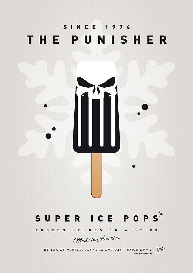 My Superhero Ice Pop - The Punisher Digital Art  - My Superhero Ice Pop - The Punisher Fine Art Print