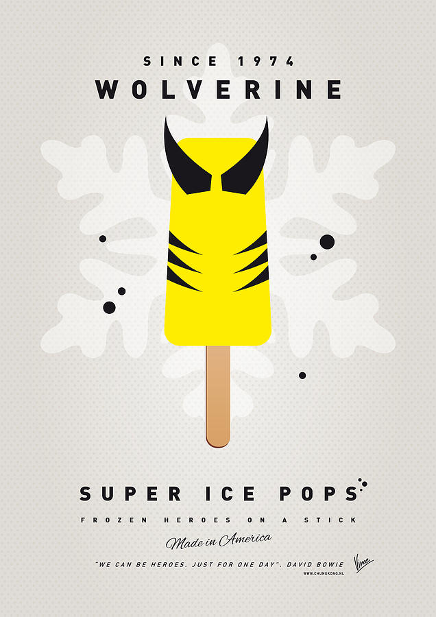 My Superhero Ice Pop - Wolverine Digital Art  - My Superhero Ice Pop - Wolverine Fine Art Print