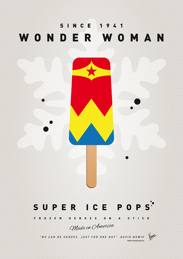 My Superhero Ice Pop - Wonder Woman Digital Art  - My Superhero Ice Pop - Wonder Woman Fine Art Print