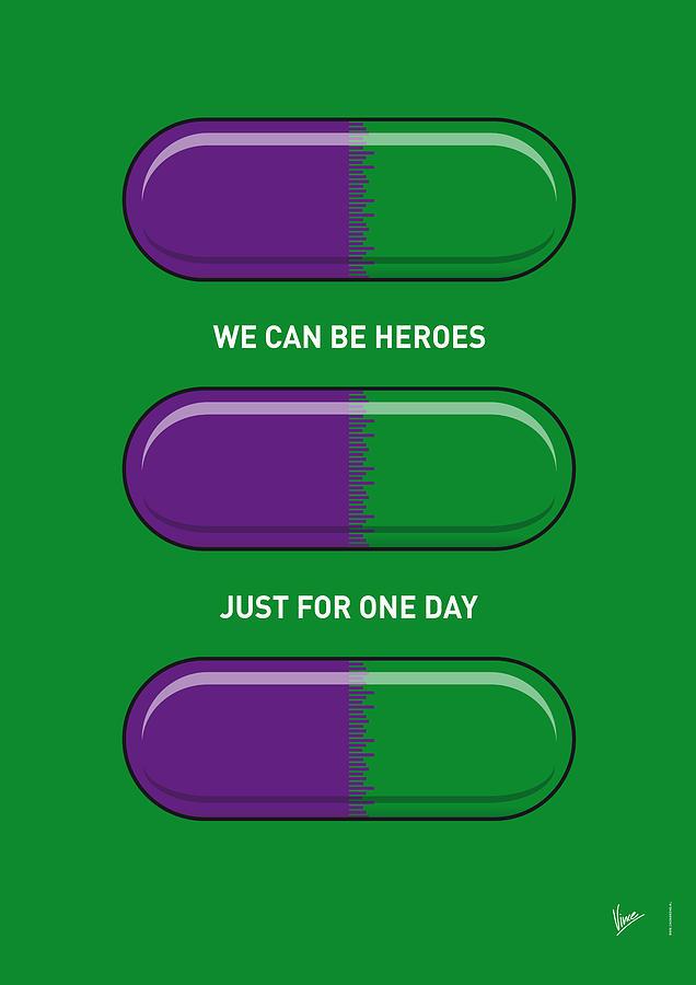 My Superhero Pills - The Hulk Digital Art