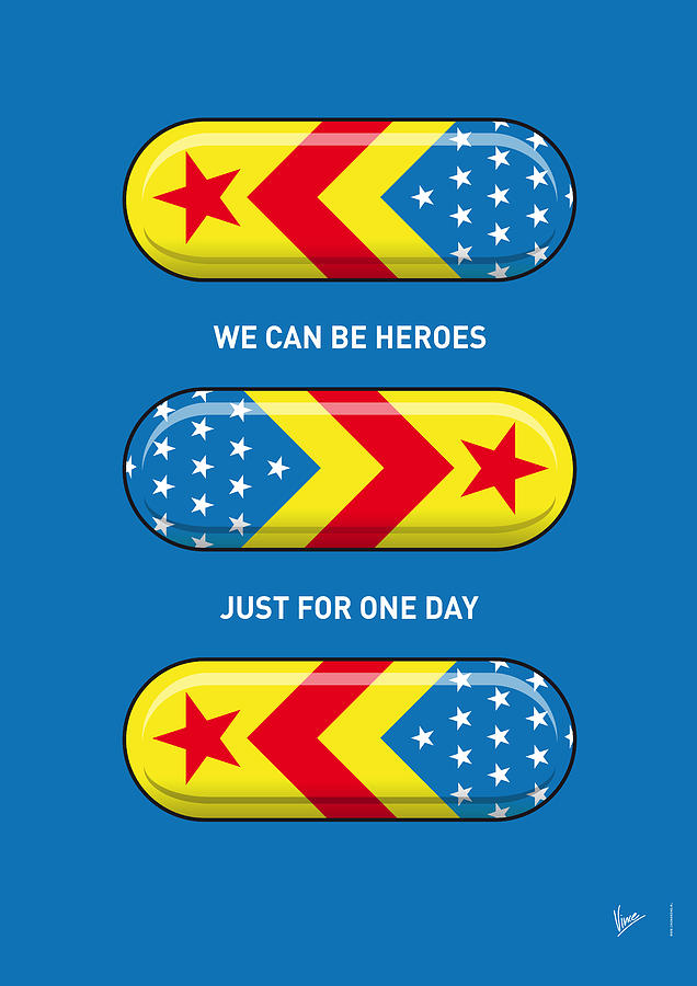 My Superhero Pills - Wonder Woman Digital Art  - My Superhero Pills - Wonder Woman Fine Art Print