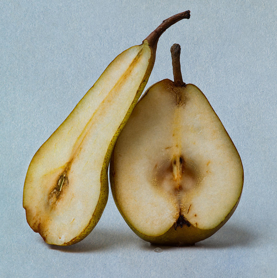 Pear Photograph - My Sweet And Perfect Half - Square 3 by Alexander Senin