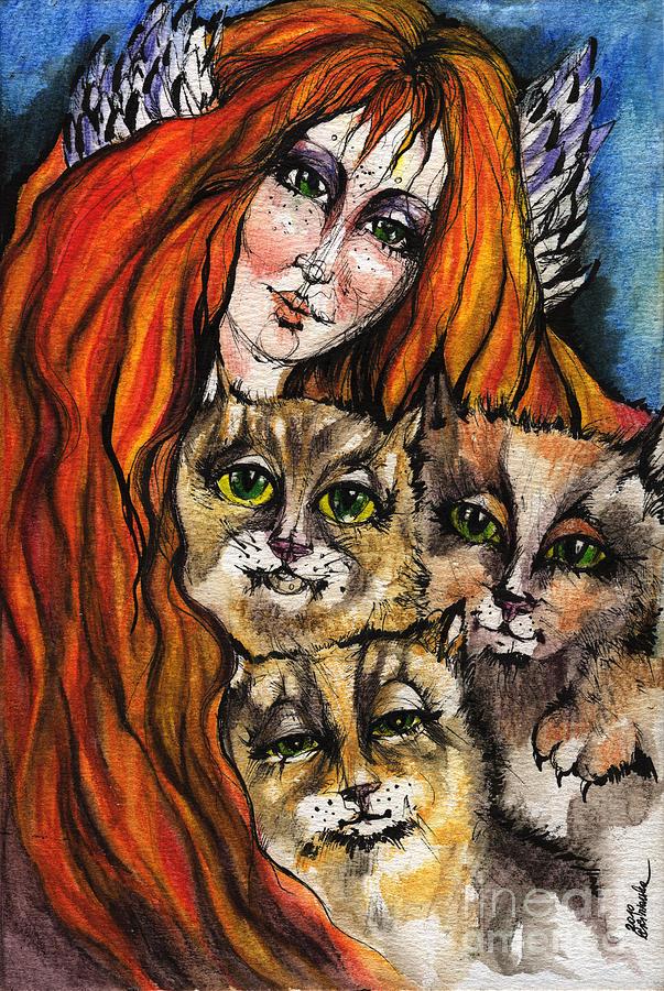 My Three Cats Painting